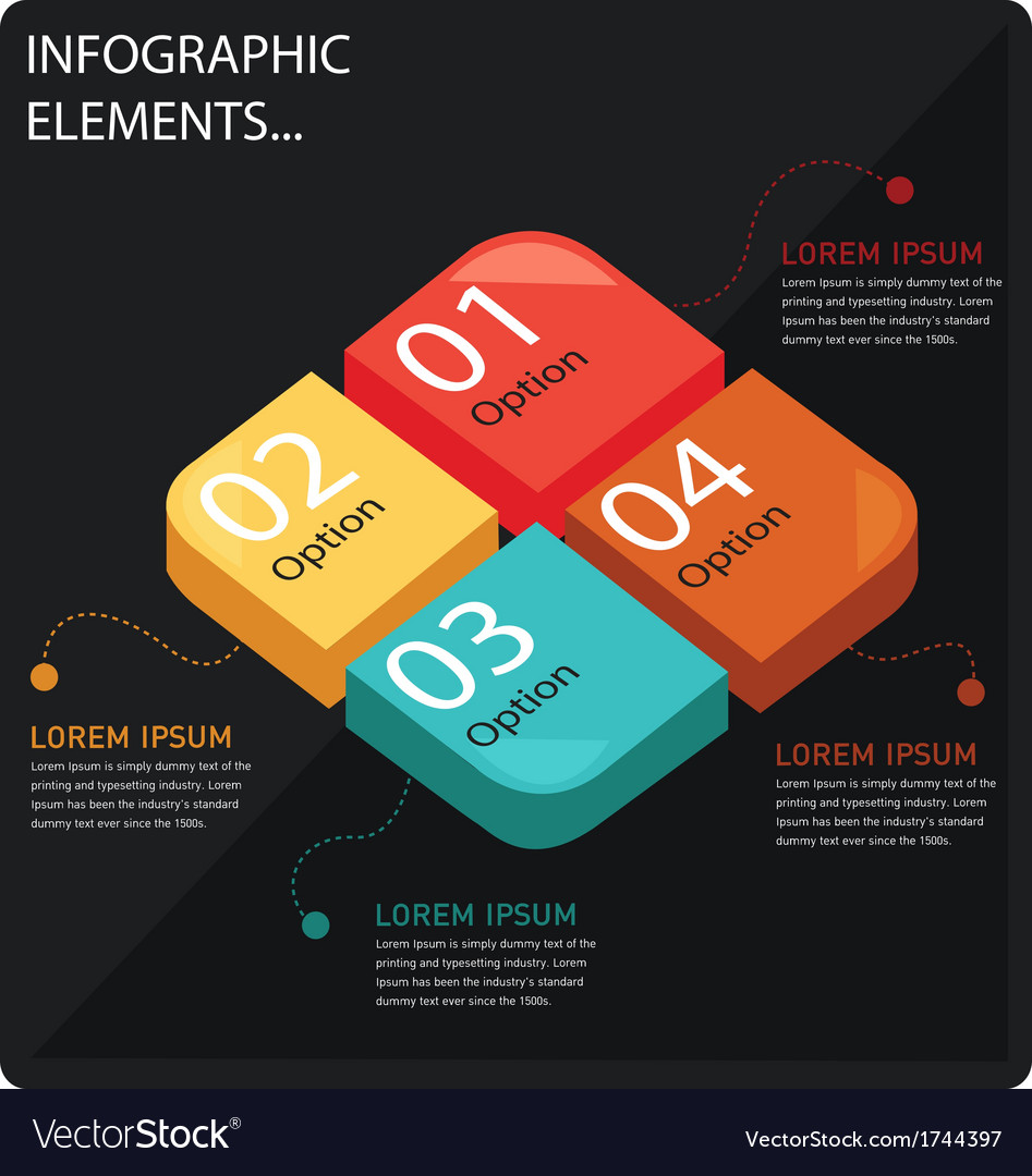 Rectangle cutting info graphic vector | Price: 1 Credit (USD $1)