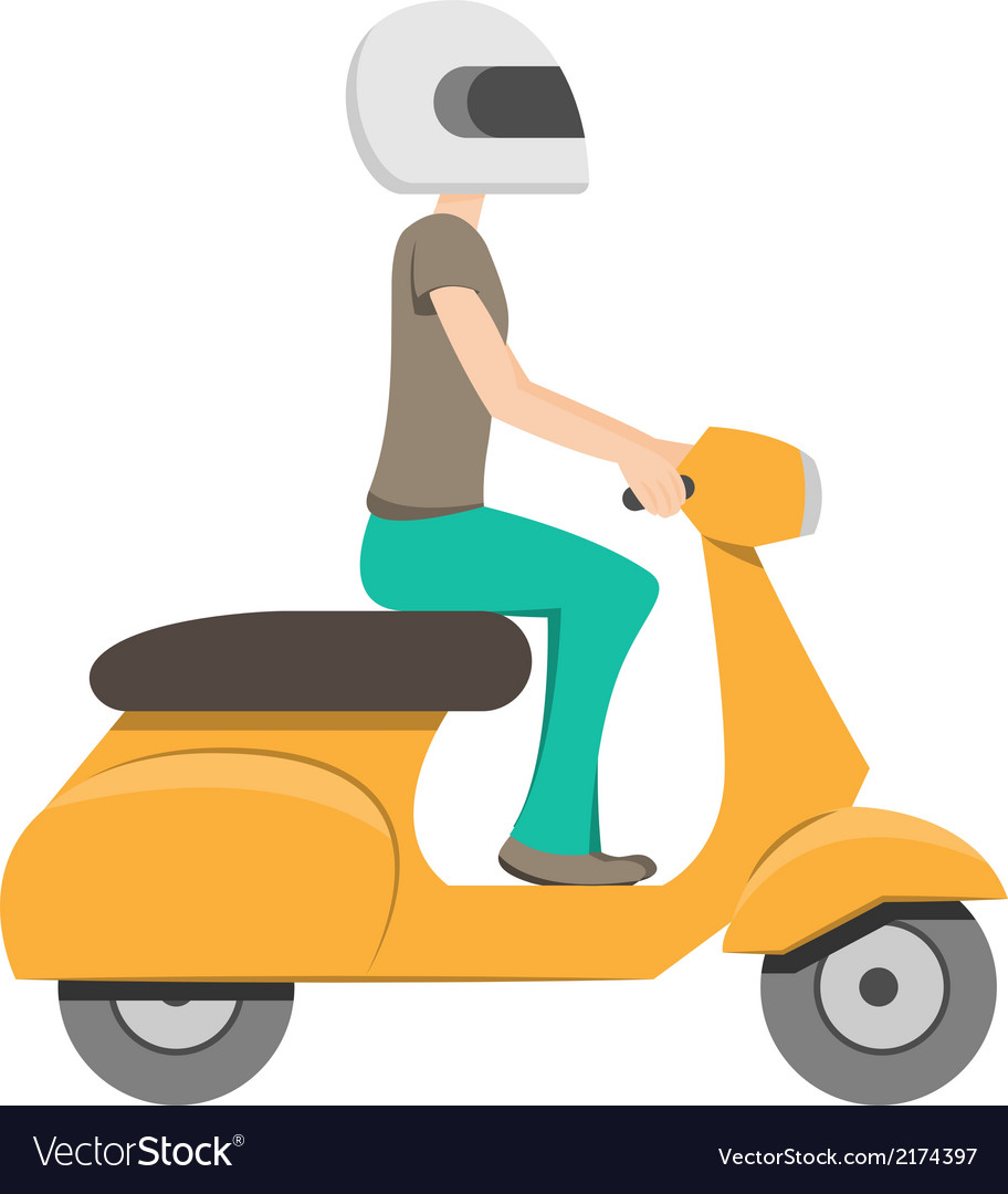 Scooter riding vector | Price: 1 Credit (USD $1)
