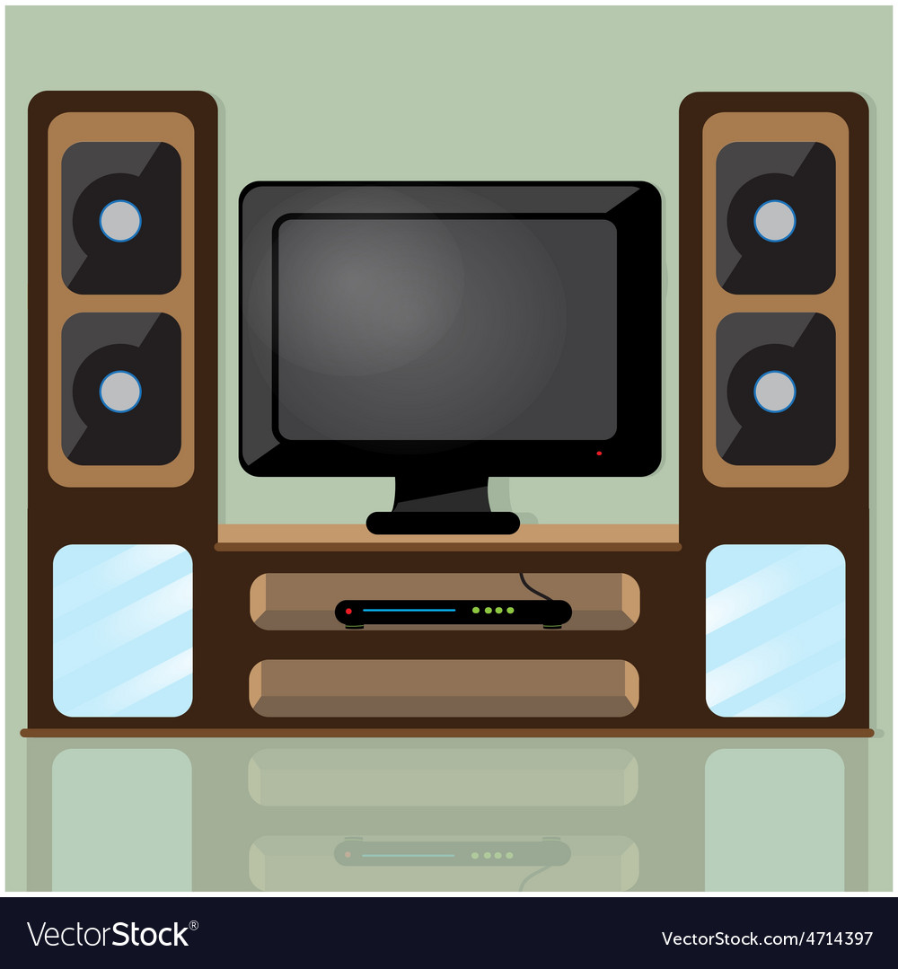 Tv table vector | Price: 3 Credit (USD $3)