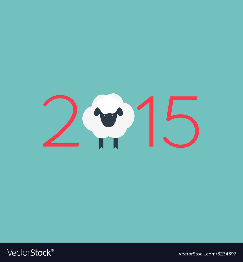 Year of the sheep vector | Price: 1 Credit (USD $1)