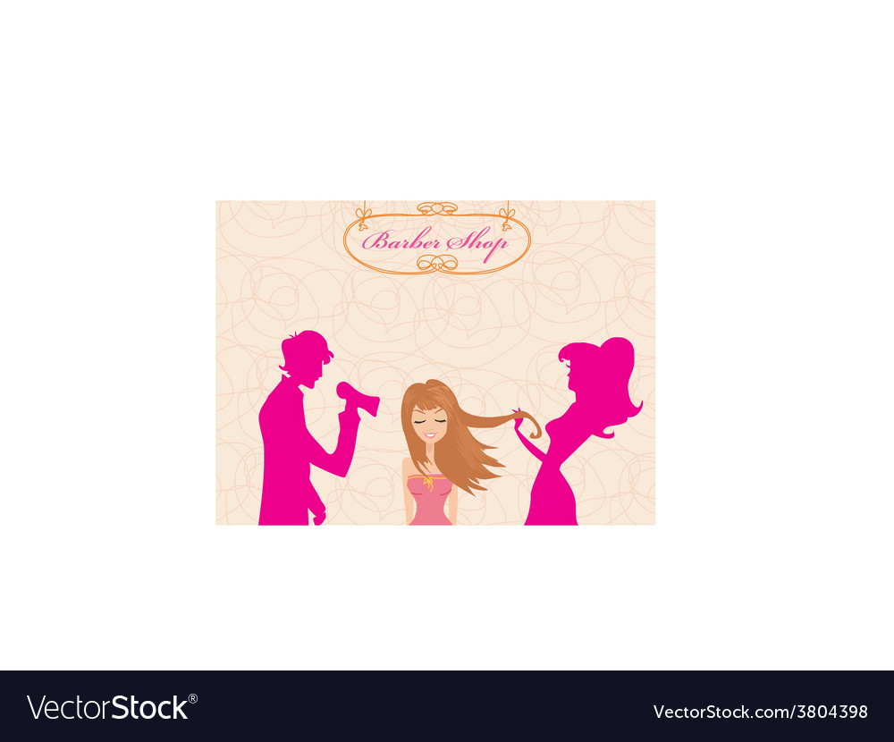 Beautiful woman in hairdressing salo vector | Price: 1 Credit (USD $1)