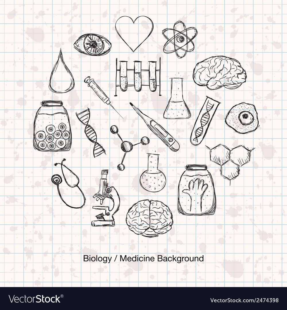 Biology or medicine science background vector | Price: 1 Credit (USD $1)