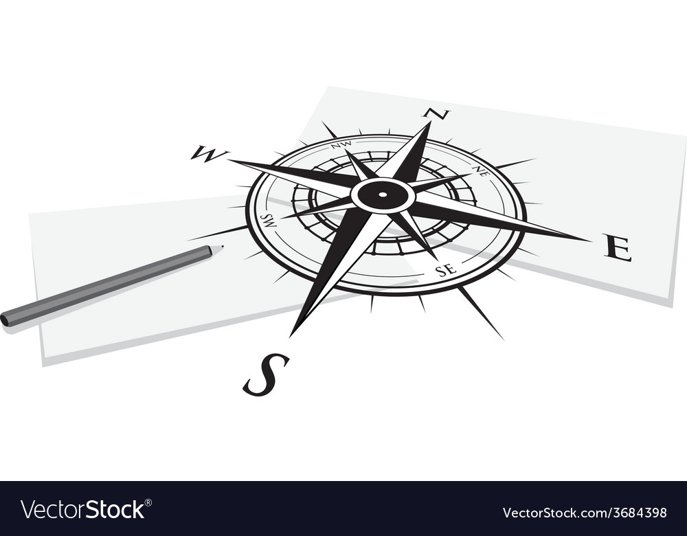 Compass paper vector | Price: 1 Credit (USD $1)