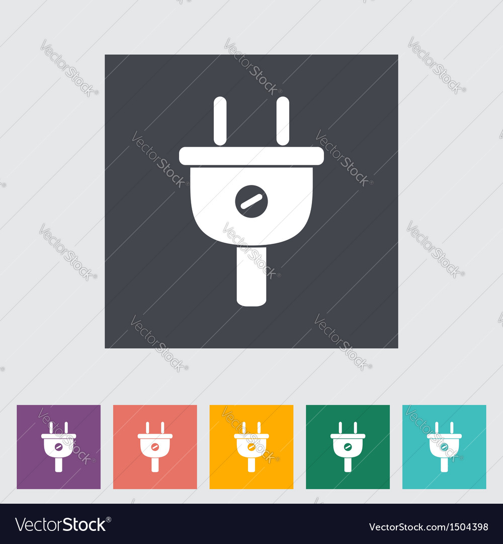 Electrical plug 2 vector | Price: 1 Credit (USD $1)