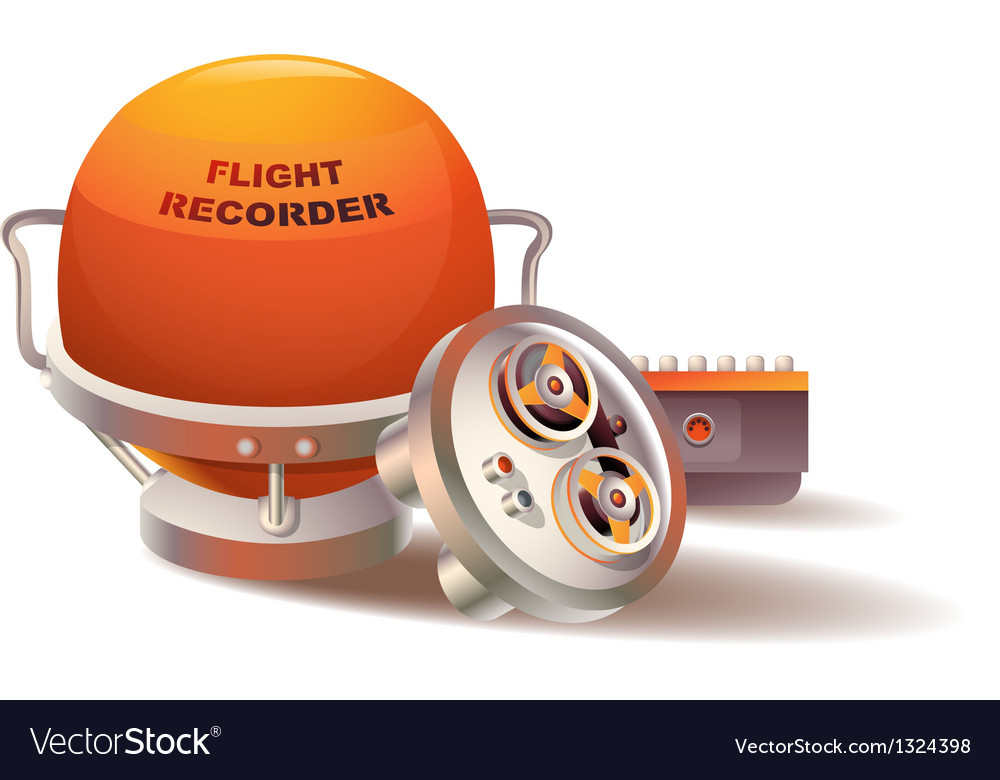 Flight recorder vector | Price: 1 Credit (USD $1)
