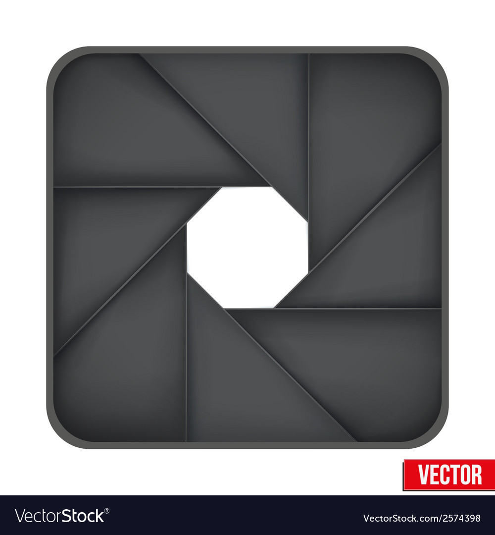 Icon of camera aperture lens vector | Price: 1 Credit (USD $1)