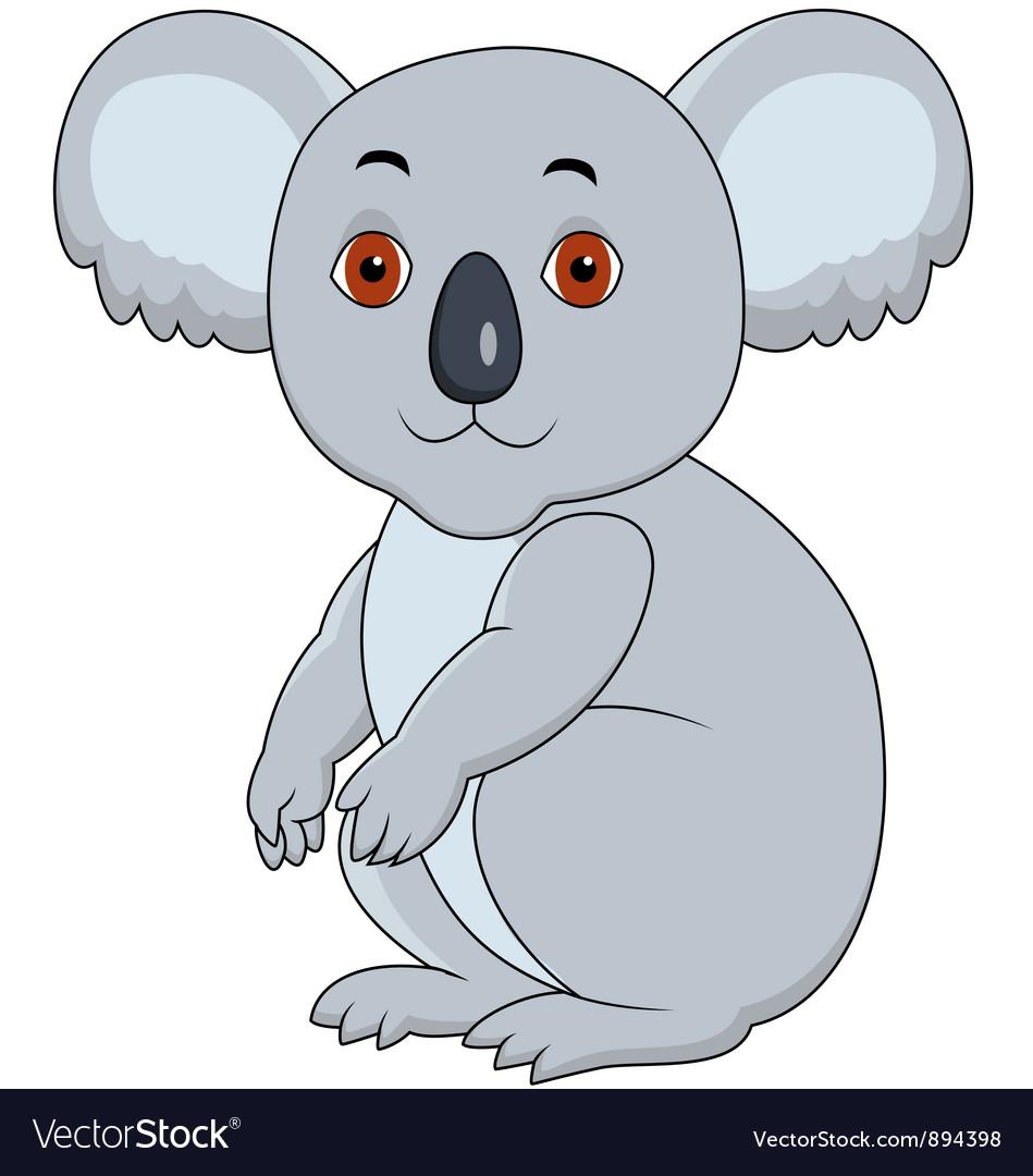 Koala cartoon sitting vector   Price: 1 Credit (USD $1)