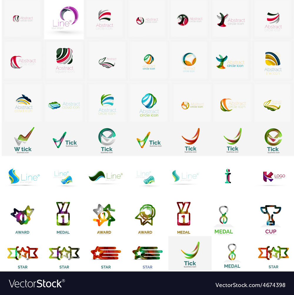 Large corporate company logo collection universal vector | Price: 1 Credit (USD $1)