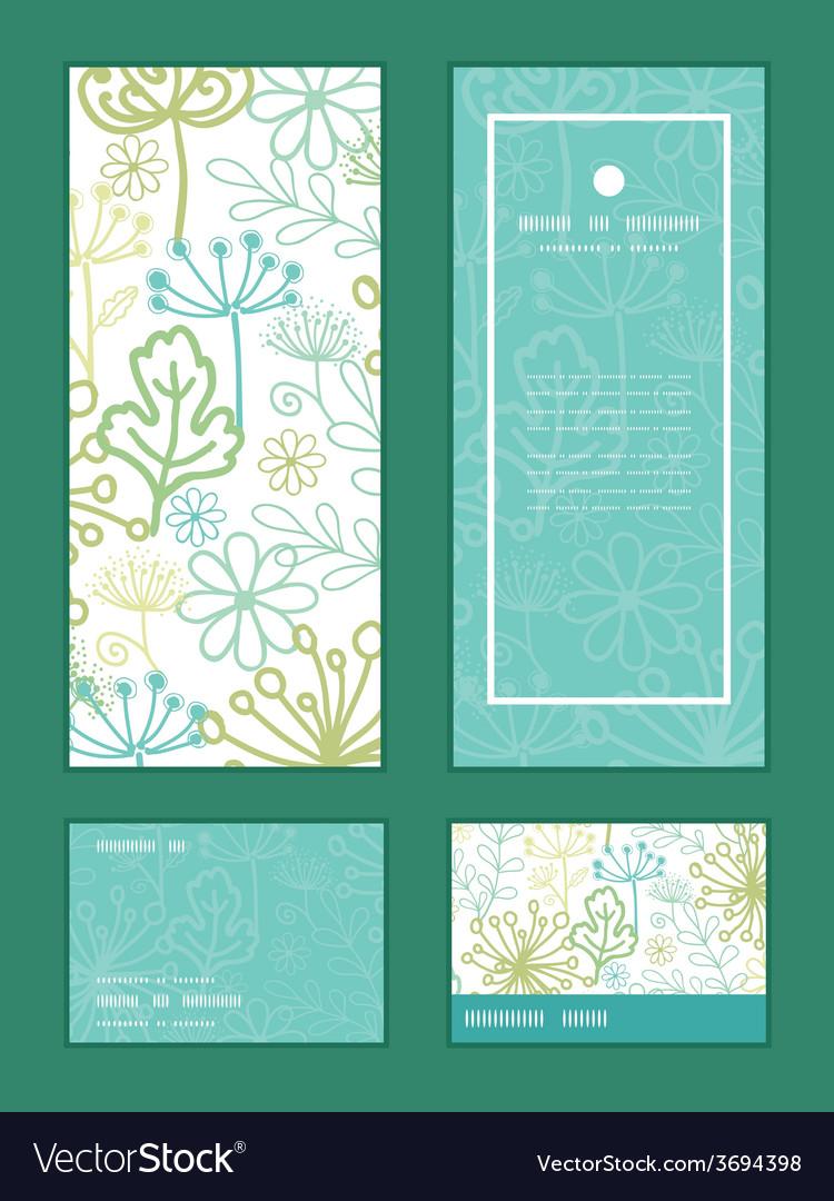 Mysterious green garden vertical frame vector | Price: 1 Credit (USD $1)