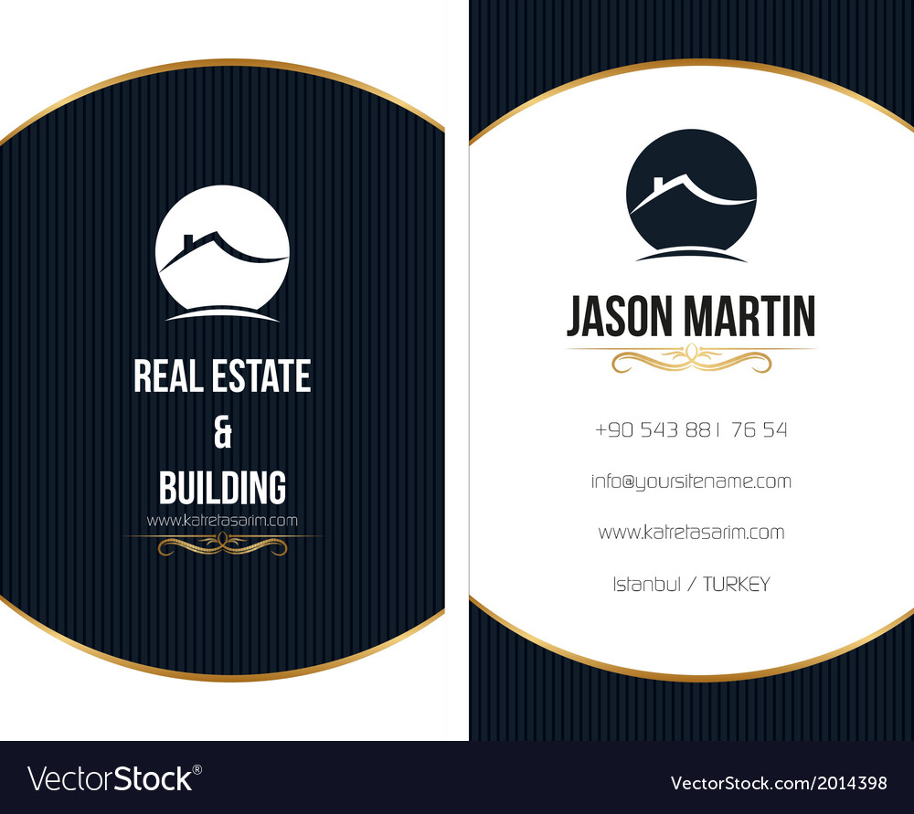 Real estate business card vector | Price: 1 Credit (USD $1)