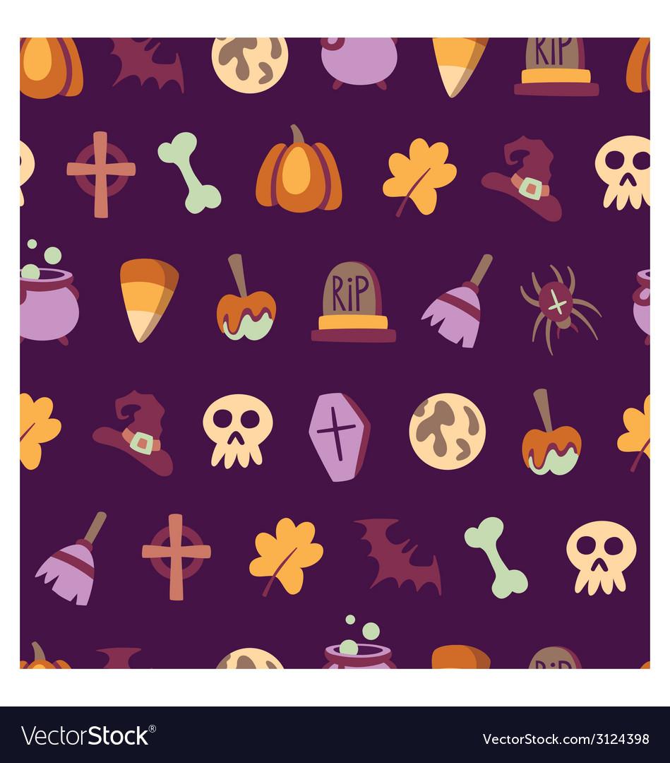 Seamless halloween pattern vector | Price: 1 Credit (USD $1)