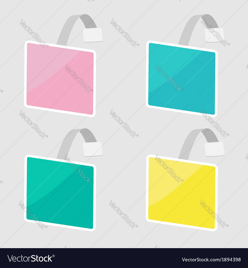 Set of square wobblers empty template flat design vector | Price: 1 Credit (USD $1)