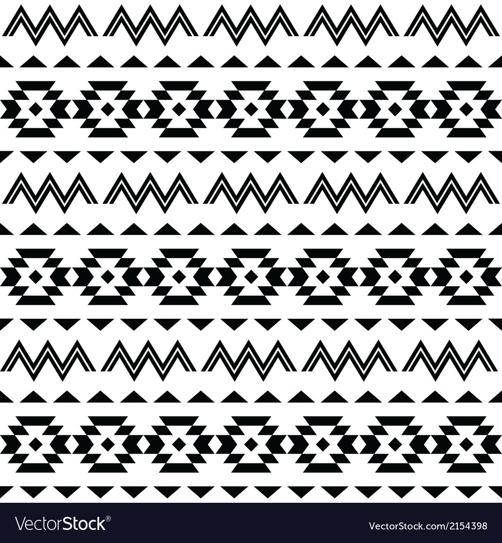 Tribal pattern aztec seamless background vector | Price: 1 Credit (USD $1)
