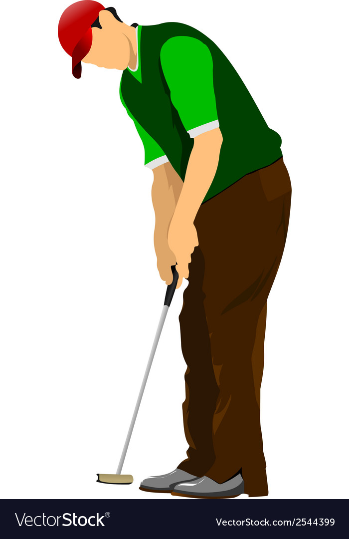 Al 1005 golfer 02 vector | Price: 1 Credit (USD $1)