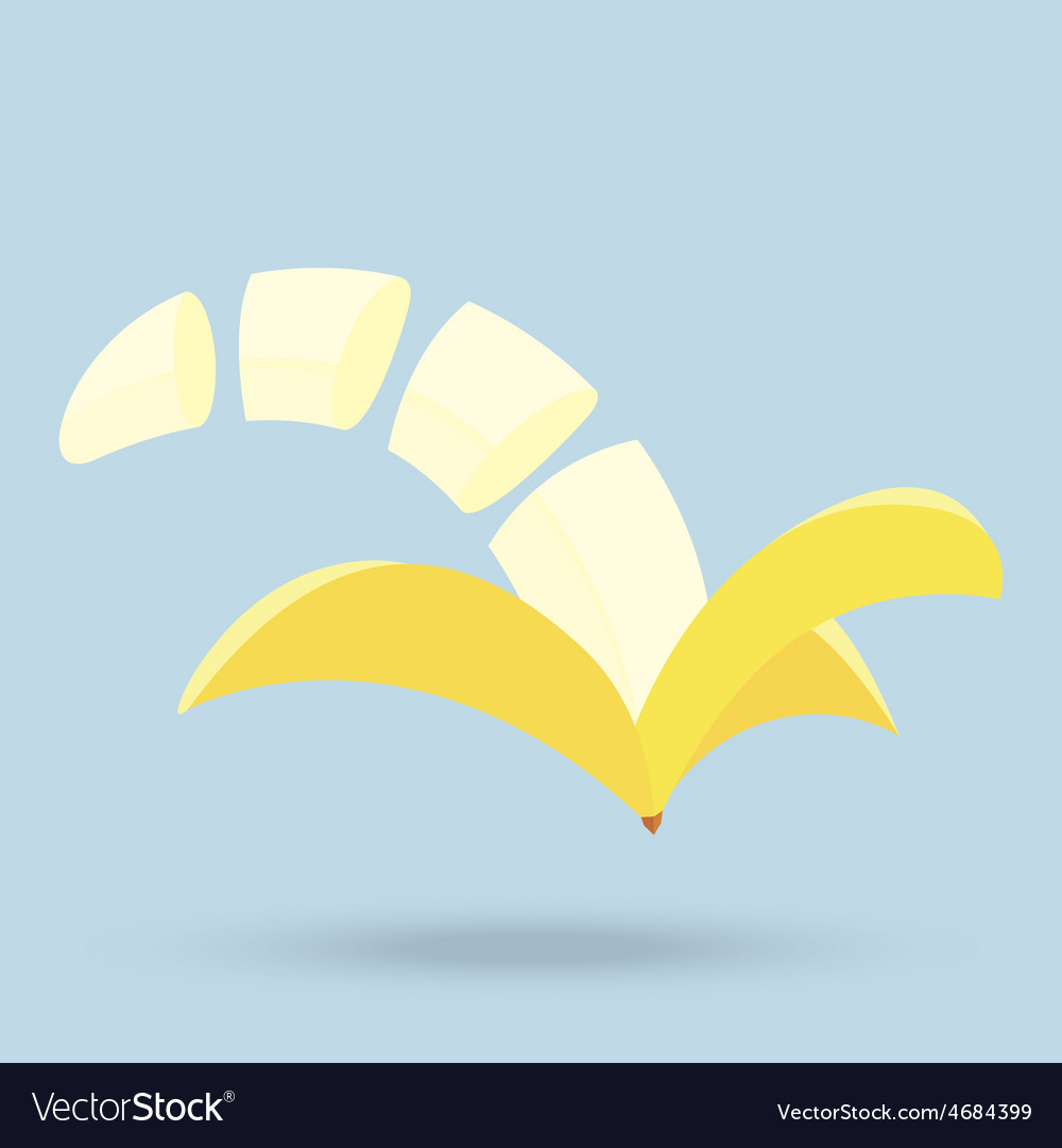 Banana slices isolated on background vector | Price: 1 Credit (USD $1)