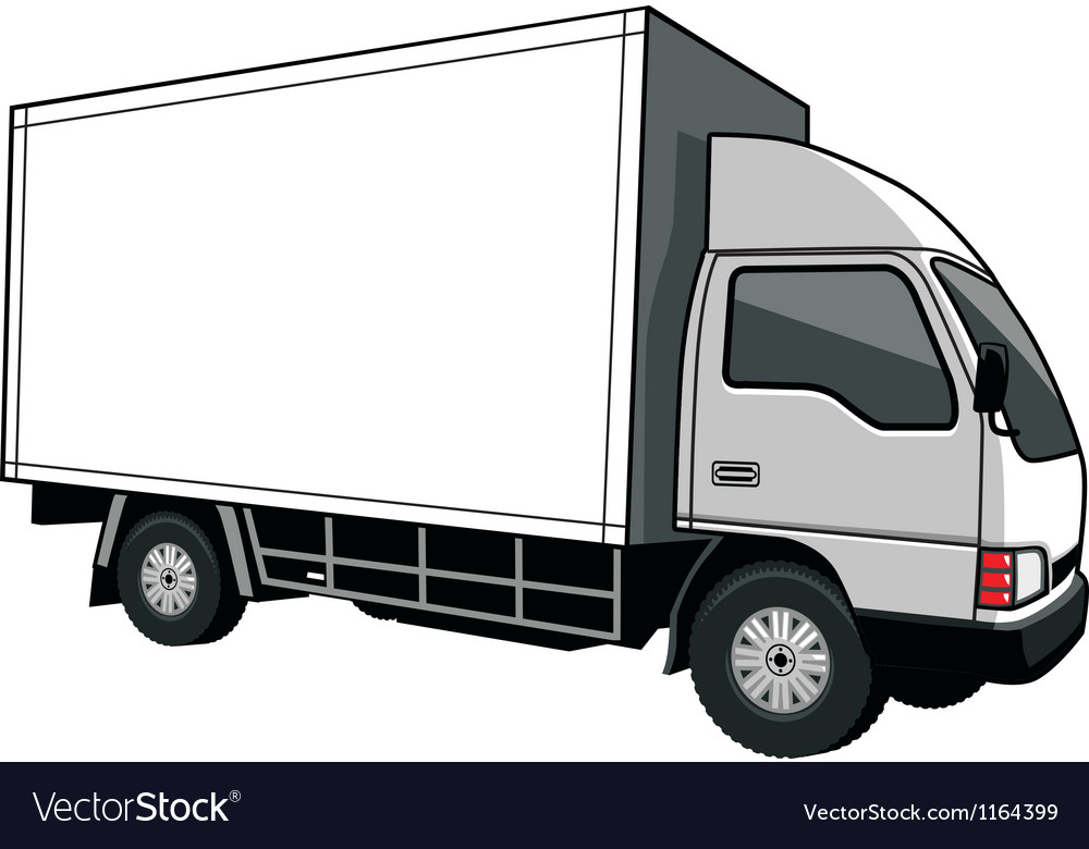 Cargo truck with blank space vector | Price: 1 Credit (USD $1)
