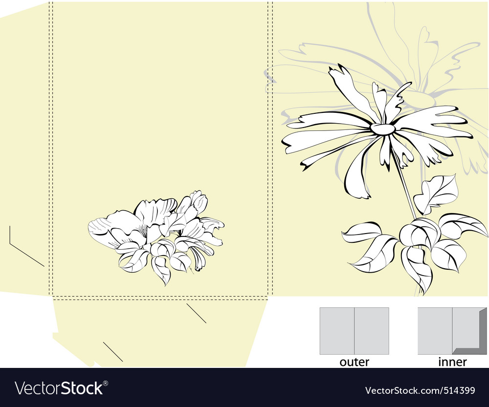Decorative folder vector | Price: 1 Credit (USD $1)