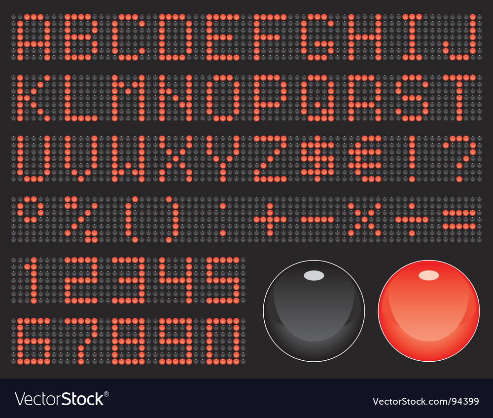 Dot-matrix font vector | Price: 1 Credit (USD $1)
