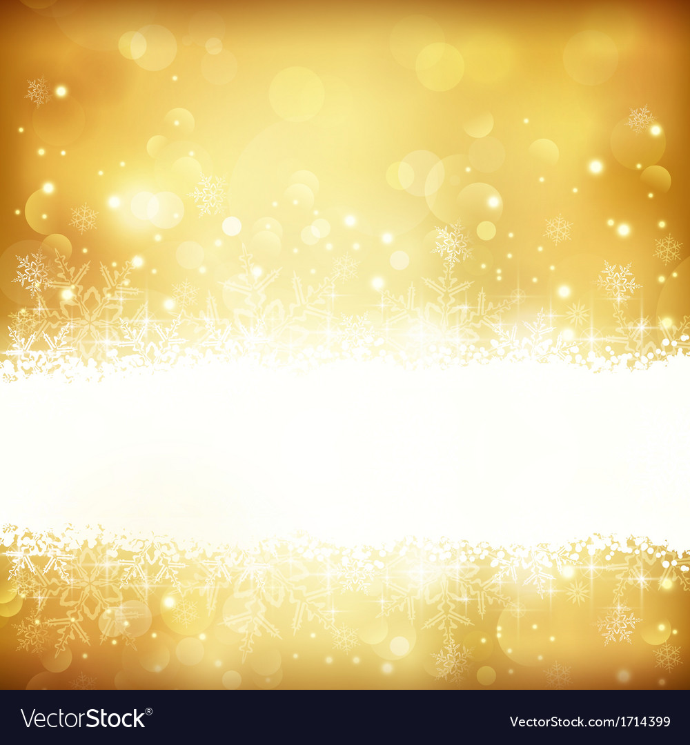 Golden glowing christmas background vector | Price: 1 Credit (USD $1)