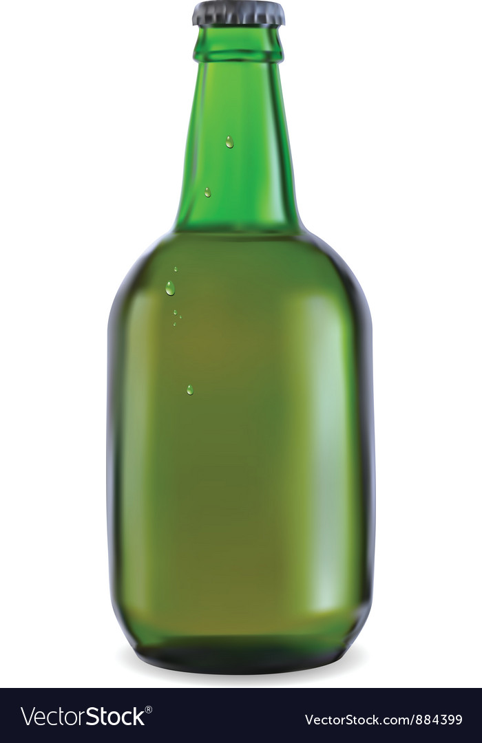 Green bottle of beer vector | Price: 1 Credit (USD $1)