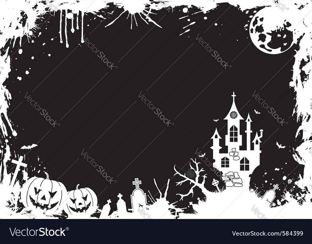 Grunge halloween frame vector | Price: 1 Credit (USD $1)