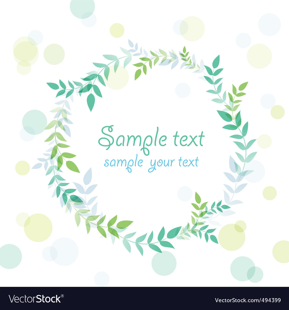 Leaves frame vector | Price: 1 Credit (USD $1)