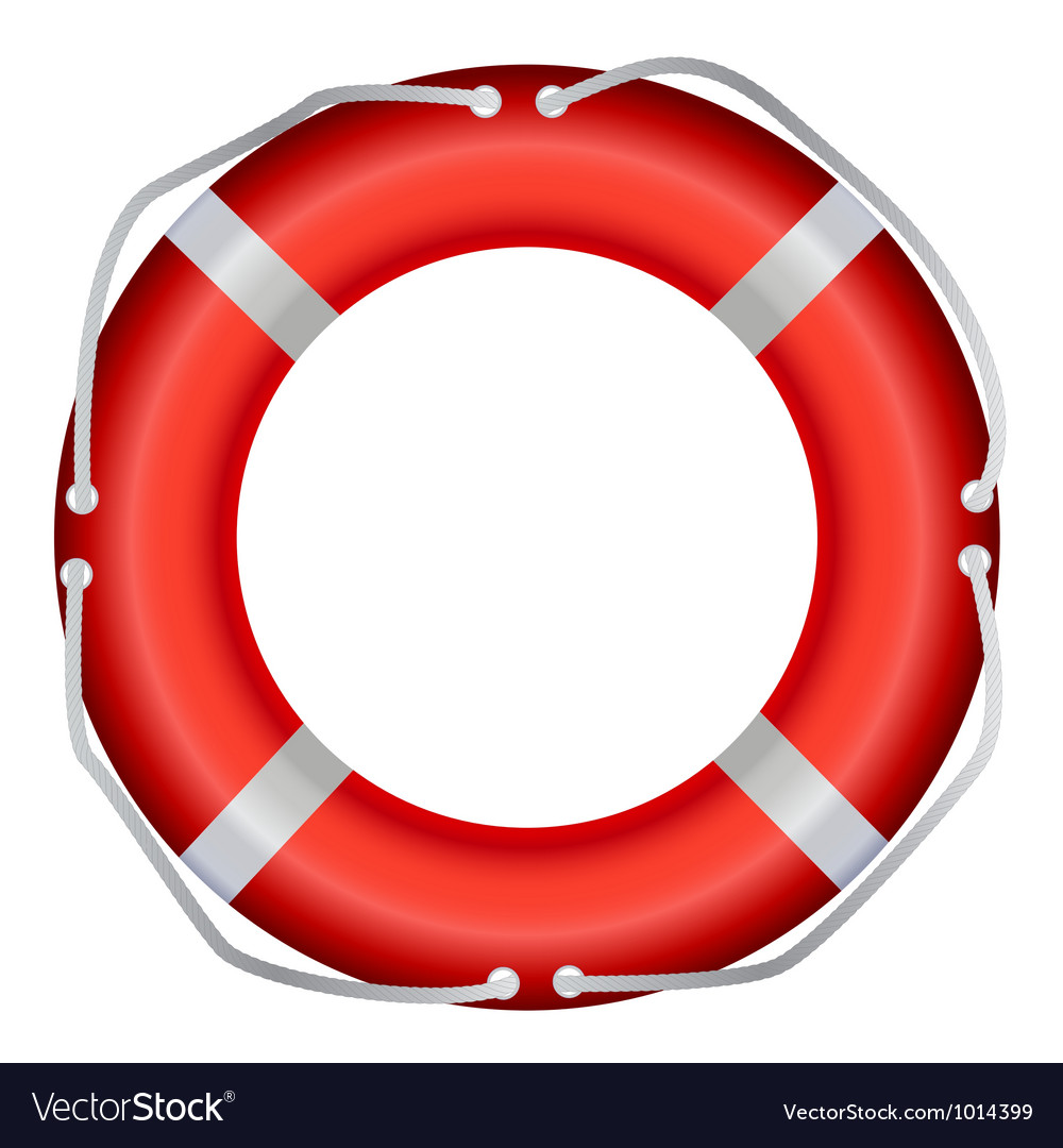 Life buoy isolated on white background vector | Price: 1 Credit (USD $1)