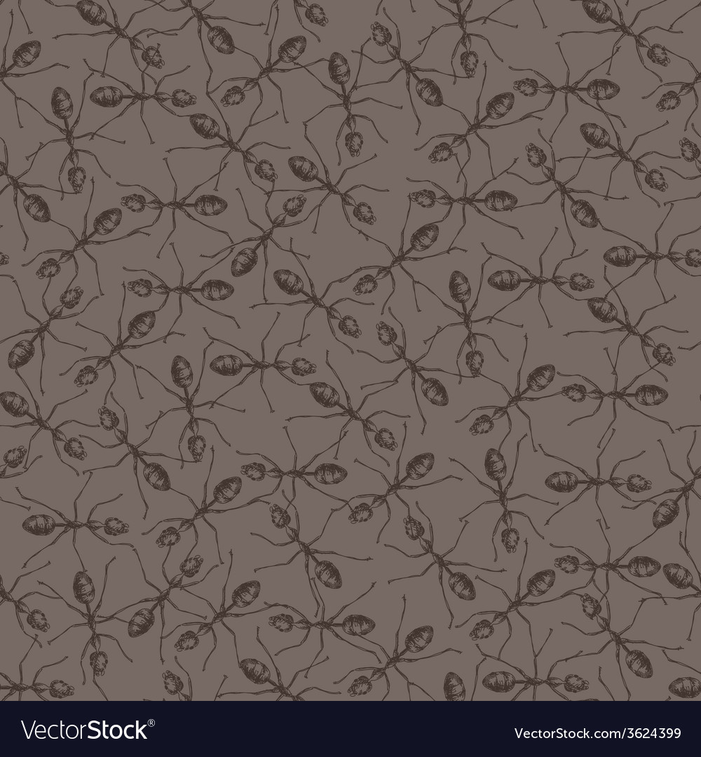 Seamless background with ants vector | Price: 1 Credit (USD $1)