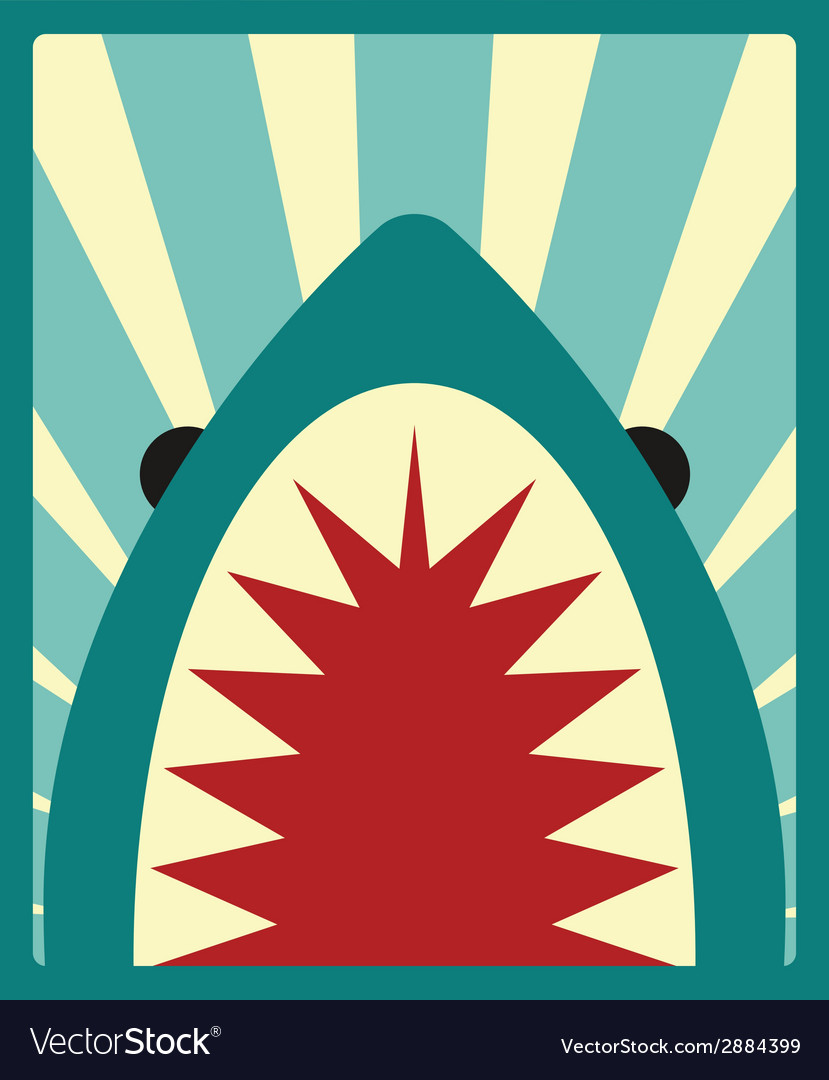 Shark poster vector | Price: 1 Credit (USD $1)