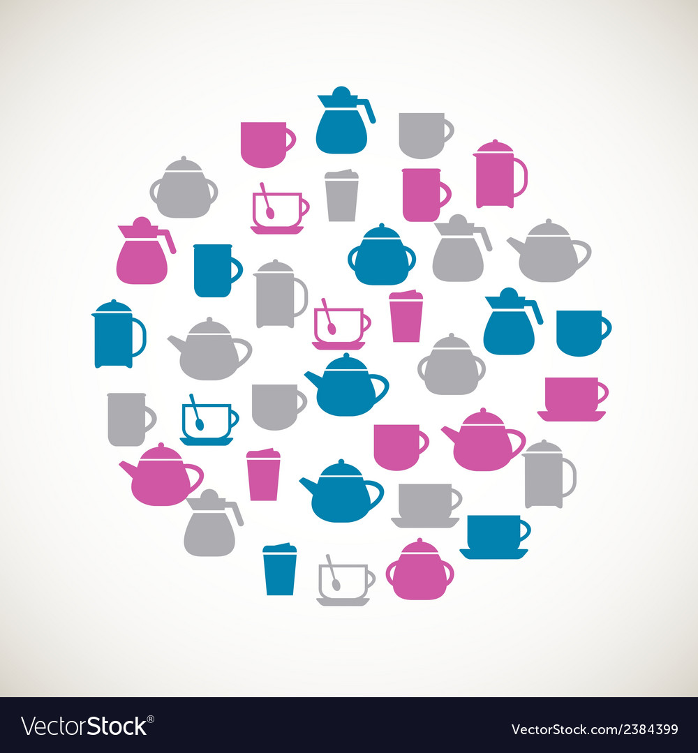 Tea colorful icons vector | Price: 1 Credit (USD $1)