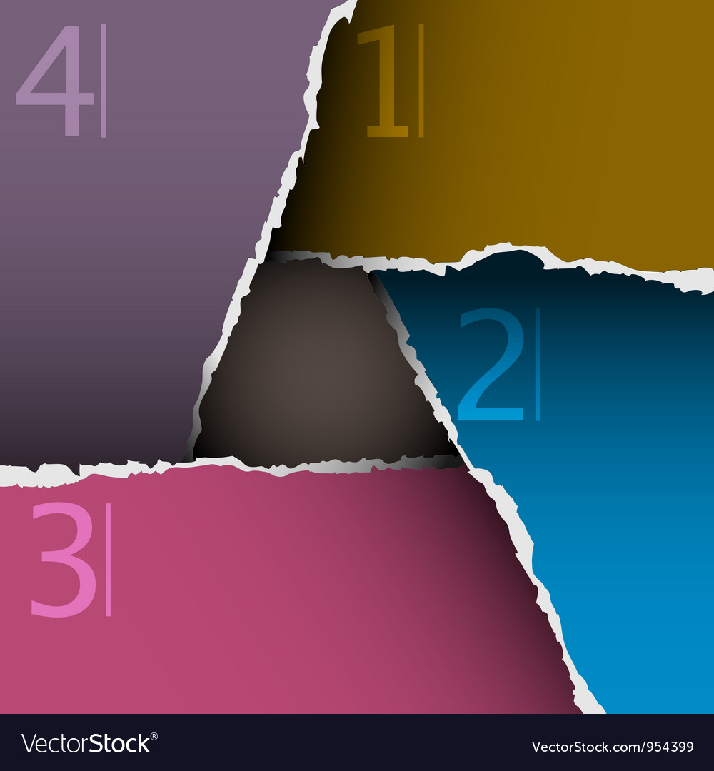 Torn paper number background vector | Price: 1 Credit (USD $1)