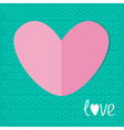 Paper heart on blue background love valentines day vector