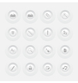 Button office icon set web design menu template vector