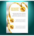 Blank design template certificate ribbon award vector