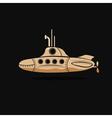 Cartoon submarine design template vector