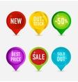 Creative and elegance web pins symbols vector