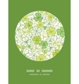 Clover line art circle decor pattern background vector