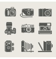 Camera new and retro icon vector