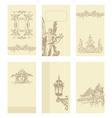 Classical vintage old frame card design vector