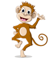 Cute monkey cartoon posing vector
