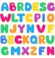 Seamless childrens bright alphabet pattern vector