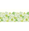 Clover line art horizontal seamless pattern vector