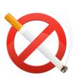 Sign prohibiting smoking vector