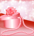 Rose pearl necklace vector