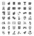 School icons dark silhouettes vector