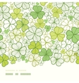 Clover line art horizontal decor seamless pattern vector