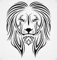 Lion head tribal vector