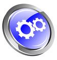 3d gear icon vector