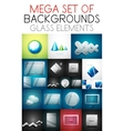 Mega collection of glass elements vector
