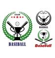 Baseball badges or emblems vector